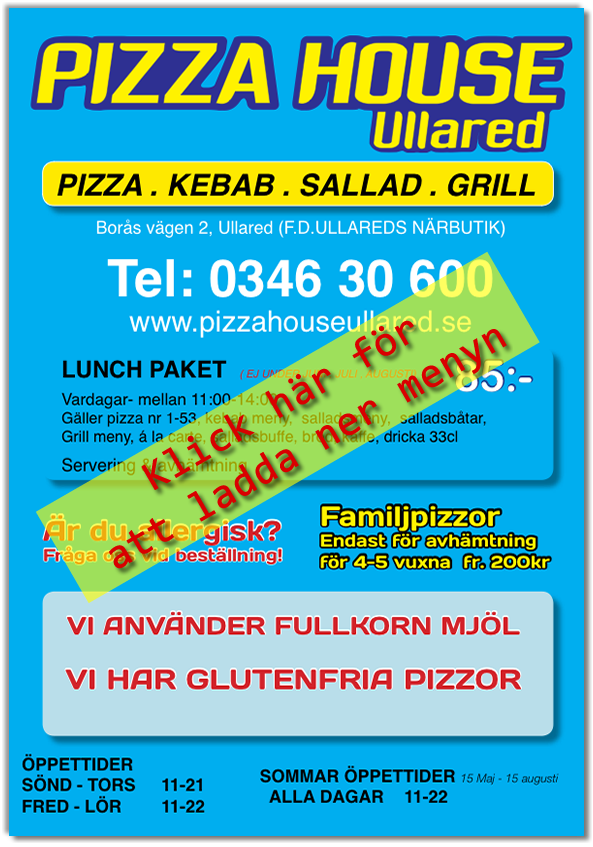 pizza house ullared